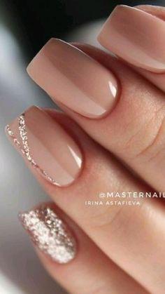 Chic Nails, Classy Nails, Fancy Nails, Stylish Nails, Simple Nails, Trendy Nails, Simple Bridal Nails, Bridal Nails French, Elegant Bridal Nails