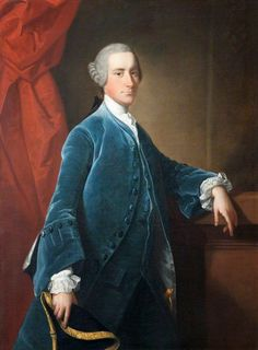 """Portrait of Sir Thomas Dyke-Acland, 7th Bt. (1722-1785)"" by Thomas Hudson (1750)"
