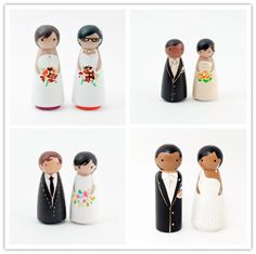 Wooden cake toppers from Lil Cake Toopers - too cute ;)
