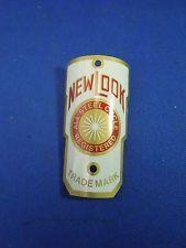 Vintage New Look Bicycle Head Badge Emblem All Steel Cycle Registered