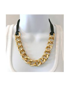 Chain and Leather Necklace by JewelMint.com, $29.99