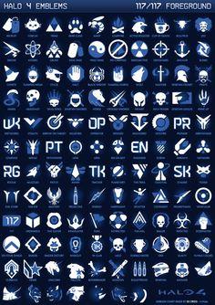 Halo 4 Service Emblems