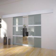 Modern Double Sliding Glass Door Interior System Internal Living Room Aluminium in Home, Furniture & DIY, DIY Materials, Doors & Door Accessories | eBay!