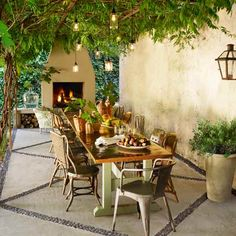 Potted fast growing Blue Moon Wisteria Vine Photo: Tria Giovan   thisoldhouse.com   from Outdoor Rooms as the Perfect Staycation Destinations