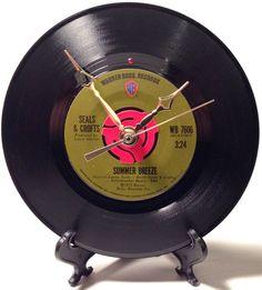 "Recycled SEALS & CROFTS 7"" Record / Summer Breeze / Record Clock"