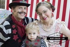 Family photography, vintage circus