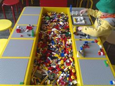 DIY Lego Tables - Perfect for Kids of All Ages How to Build a Lego Table for Your Children: How To Build A Great Lego Table – Vizimac Table Lego Diy, Lego Storage, Craft Storage, Storage Ideas, Table Storage, Kids Storage, Toy Rooms, Lego Projects, Diy Organization
