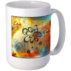 Abstract Peace Mugs