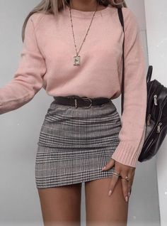 48 cool outfit ideas for a flawless look - Fashion - . - 48 cool outfit ideas for a flawless look – Fashion – - Cute Fall Outfits, Girly Outfits, Stylish Outfits, Cute Outfits With Skirts, Skirt Outfits For Winter, Grunge Outfits, Cute Casual Outfits For Teens, Mean Girls Outfits, Winter Party Outfits