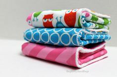 BagEnvy Handbags' Burp Cloths   Set Of 3  Owls and by BagEnvy, $21.00