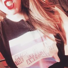 Jenny from our Street team rocking our 'Weird' tee & looking fine!