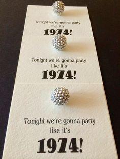 Jac o' lyn Murphy: Disco Ball Birthday Invitations