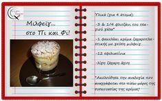Θα σε κάνω Μαγείρισσα!: Μιλφεϊγ...στο Π και Φ! Greek Recipes, Easy Desserts, Cooking Recipes, Sweets, Drinks, Ethnic Recipes, Blog, Sweet Pastries, Beverages