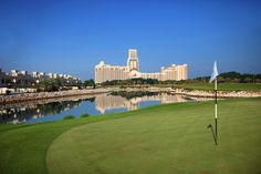 Experience a round of golf the 18 hole championship golf course at the Al Hamra Golf Club including an overnight stay and breakfast at the Waldorf Astoria Ras Al Khaimah