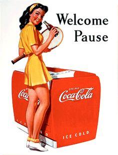 Spotlight on Golden Age Advertising   Coca Cola   Calendar Girl Advertising