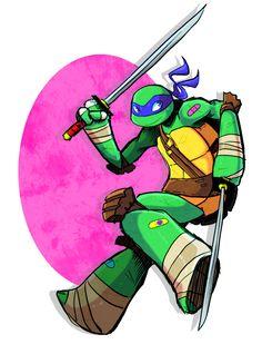 My favorite guy Tmnt Leo, Tmnt Girls, Leonardo Tmnt, Tmnt 2012, Chibi Characters, Cute Comics, Teenage Mutant Ninja Turtles, Cute Art, Meme