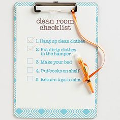 Streamline housecleaning by sticking to a list. There's freedom in knowing exactly what to clean and when to clean it. No more time wasted stressing about cleaning or fretting over what you've missed. Just check, check, check each item off as you go. Done!