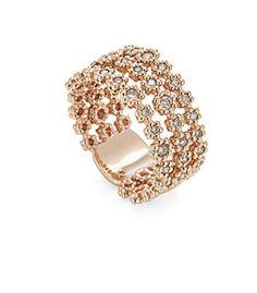 Anel de ouro rosé 18K com diamantes cognac - MyCollection Link:http://www.hstern.com.br/joias/p-produto/A0B198543/anel/mycollection/anel-de-ouro-rose-18k-com-diamantes-cognac---mycollection