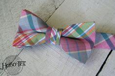 Boys Madras Plaid Bow TieBoys Bow TiePink Bow TieGreen by HoBoTies