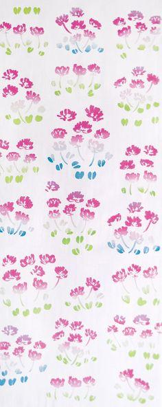 Japanese Tenugui Towel Cotton Fabric, Lotus Flower, Spring, Pink Fabric, Modern Design, Hand Dyed Fabric, Art Wall Fabric, Home Decor, JapanLovelyCrafts