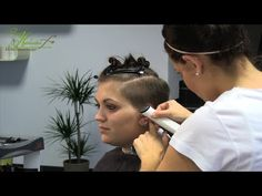 undercut hair makeover - very cute; I would not part my hair over quite that far, but I love the idea of this.