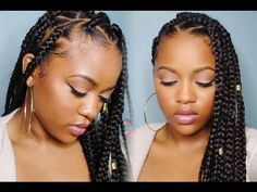 Easy Triangle Part Box Braids (Rubberband Method) [Video] - Black Hair Information