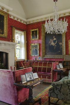 The Saloon at Coughton Court, Warwickshire -- Coughton Court