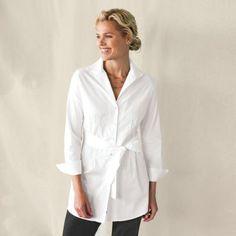 Women's Belted Stitch-Detail Shirt Tunic $79.00