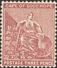 Stamp: Allegory of hope (South Africa, States and Colonies) (Cape of Good Hope) Mi:ZA-CA 39 Colonial, Cape Colony, Union Of South Africa, Vintage Stamps, Great Britain, Empire, British, Commonwealth, Postcards