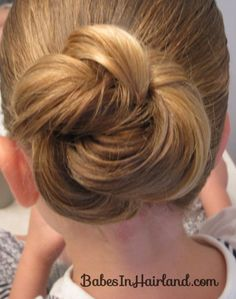 Girl hairdos from Babes in Hairland Little Girl Hairstyles, Pretty Hairstyles, Braided Hairstyles, Wedding Hairstyles, Updo Hairstyle, Teenage Hairstyles, Bun Updo, Style Hairstyle, Wedding Updo