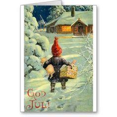 God Jul Swedish Christmas, the artist is Jenny Nyström. Merry Christmas In Swedish, Norwegian Christmas, Danish Christmas, Christmas Past, Scandinavian Christmas, Christmas Pictures, Christmas Greetings, Winter Christmas, Merry Xmas