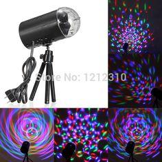 EU/미국 플러그 새로운 RGB 3 와트 크리스탈 매직 볼 레이저 무대 조명 파티 디스코 DJ 바 전구 조명 쇼