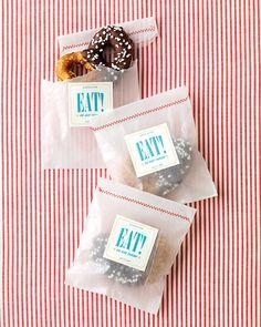 Stitched Glassine bags + Free PDF Printable Labels via Martha Stewart.