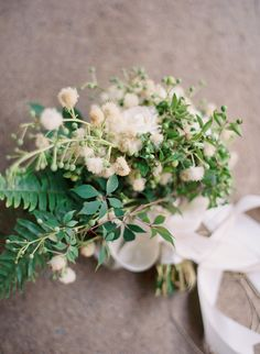 cream and green bouquet