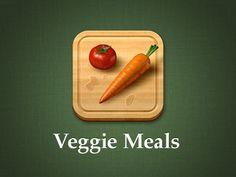 Veggie meals app icon by Max Rudberg