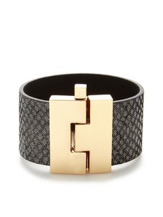 Leather Cuff Bracelet by Cara Couture Jewelry at Gilt