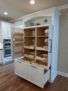 Custom Built-In Pantry with Rollout Shelves - craftsman - Kitchen - Other Metro - Twickenham Homes & Remodeling HOUSE IDEAS t Custom Pantry, Craf… Kitchen Pantry Design, Kitchen Redo, Kitchen And Bath, Kitchen Organization, Kitchen Storage, Storage Spaces, Kitchen Ideas, Rustic Kitchen, 1960s Kitchen