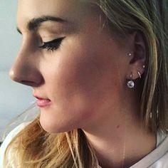 My tragus and 3 lobe piercings ❤️