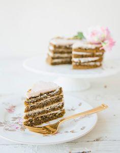 Recipe for Pistachio Rose Cake via Sweet Laurel
