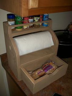 SDK Primitive Papertowel Holder with Plans - by SawDustKing @ LumberJocks.com ~ woodworking community