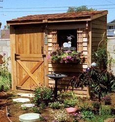 Every thought about how to house those extra items and de-clutter the garden? Building a shed is a popular solution for creating storage space outside the house. Whether you are thinking about having a go and building a shed yourself Storage Sheds For Sale, Outdoor Storage Sheds, Storage Shed Plans, Outdoor Sheds, Small Storage, Storage Ideas, Diy Storage, Kitchen Storage, Build A Shed Kit