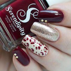 Pretty Nail Art, Cute Nail Art, Nail Art Diy, Cute Nails, Fancy Nails, Pink Nails, Gel Nails, Nail Designs Pictures, Autumn Nails
