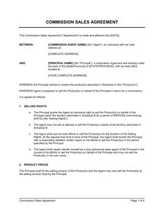 Commission Agreement Template 3