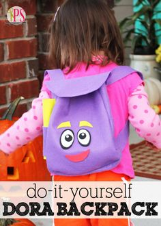 Whether you are hosting a full-on Dora The Explorer Party or you are making a dress costume. None is complete without your very own magical DORA backpack. This DIY sewing pattern shows you how to sew your very own Dora The Explorer's Backpack. Dora Backpack, Sewing Tutorials, Sewing Projects, Sewing Patterns, Purse Patterns, Baby Sewing, Free Sewing, Sewing Diy, Hobby Horse