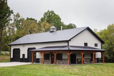 Metal Pole Barns You Are Going To Love - House Topics - hoeduho Building A Pole Barn, Pole Barn House Plans, Garage House Plans, Shop House Plans, Building A House, Building Ideas, Pole Barn Garage, Metal Shop Building, Pole Barn Shop