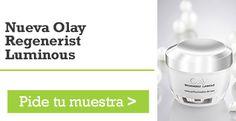 Muestras gratis de la nueva crema Olay Regenerist Luminous.  http://bit.ly/muestras-gratis-olay-regenerist-luminous  Promoción válida para España hasta Agotar Existencias (15.000 Unidades).  #muestrasgratis #muestrasgratuitas #baratuni #olay #cremas #cosmeticos