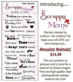 Scrappy Moms Stamps - Amusing Animals