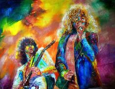 Robert Plant Painting - Led Zeppelin by Leland Castro Led Zeppelin Guitarist, Led Zeppelin Art, Plant Painting, Framed Prints, Canvas Prints, Palette Knife Painting, Robert Plant, Plant Wall, Fine Art America