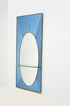 Anonymous; Wall Mirror by Fontana Arte, 1950s.
