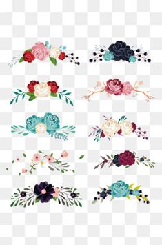 Decoracion floral Collection vector material